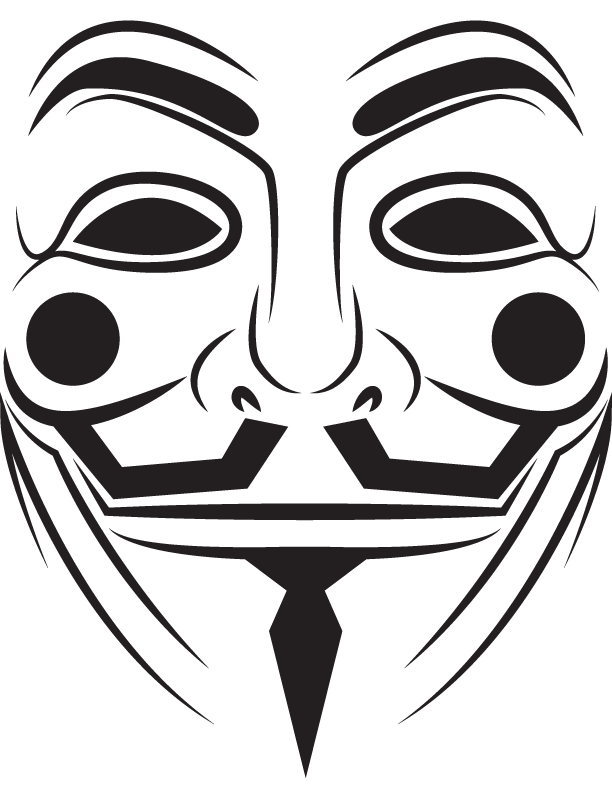 V drawing mask. Anonymous png transparent images