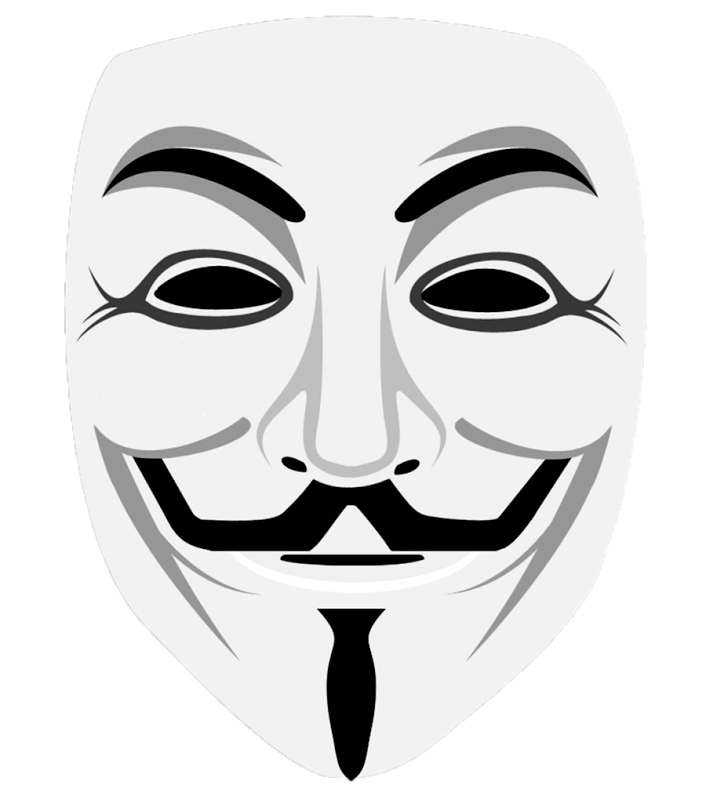 Anonymous png icon. Mask in web icons