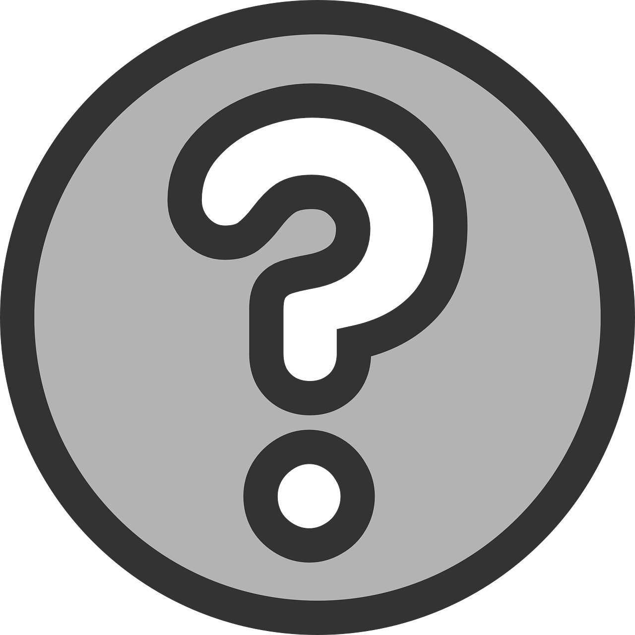 Anonymous vector question mark. Face group with items