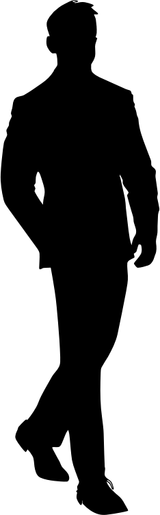 Vector suit anonymous. Men in suits silhouette