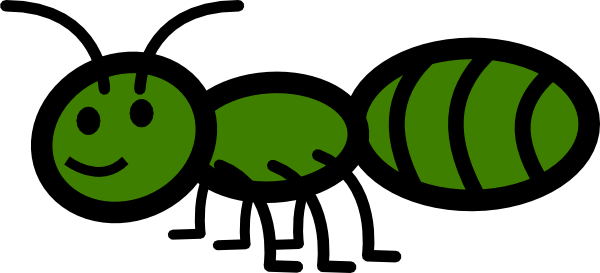 transparent ant green