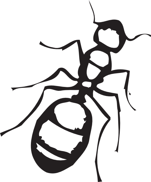 Ant clipart black and white png. Ants outline pencil in