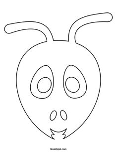 Ant clipart mask. Templates including a coloring
