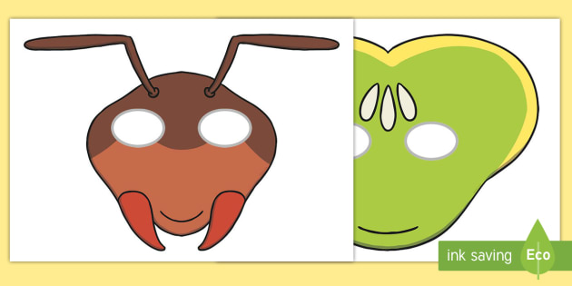 Ant clipart mask. The cicada and role