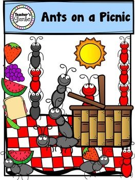 Ant clipart picnic basket. Ants on a black