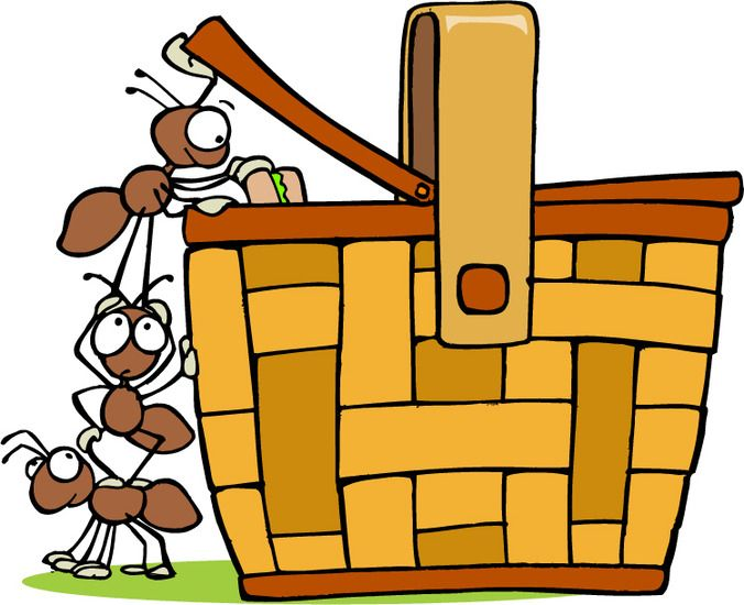 Ant clipart picnic basket. With ants clip art