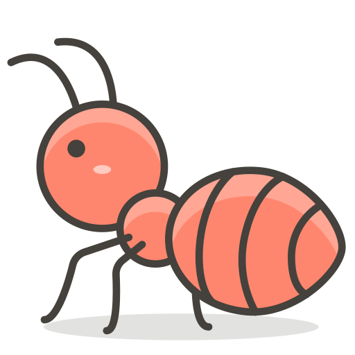 Vector ant face. Icon free of emoji