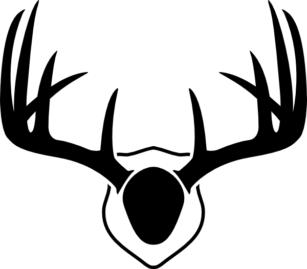 Stag vector doe. Mounted deer antlers clip
