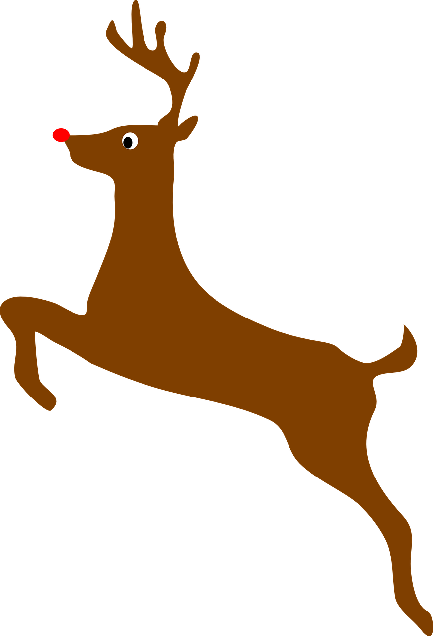 Rudolph vector cartoon. Red noses and regeneration