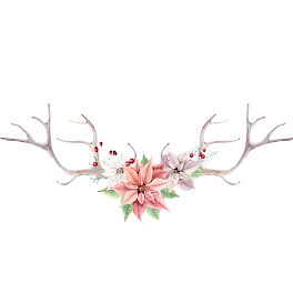 Antlers and flowers png free. Flower vector background download
