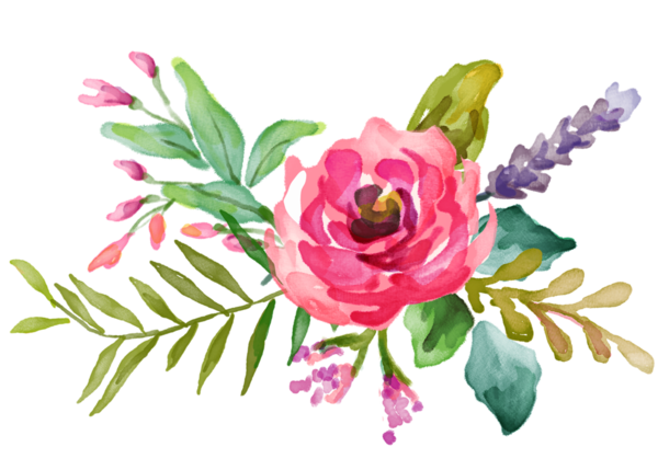 Watercolour flower png