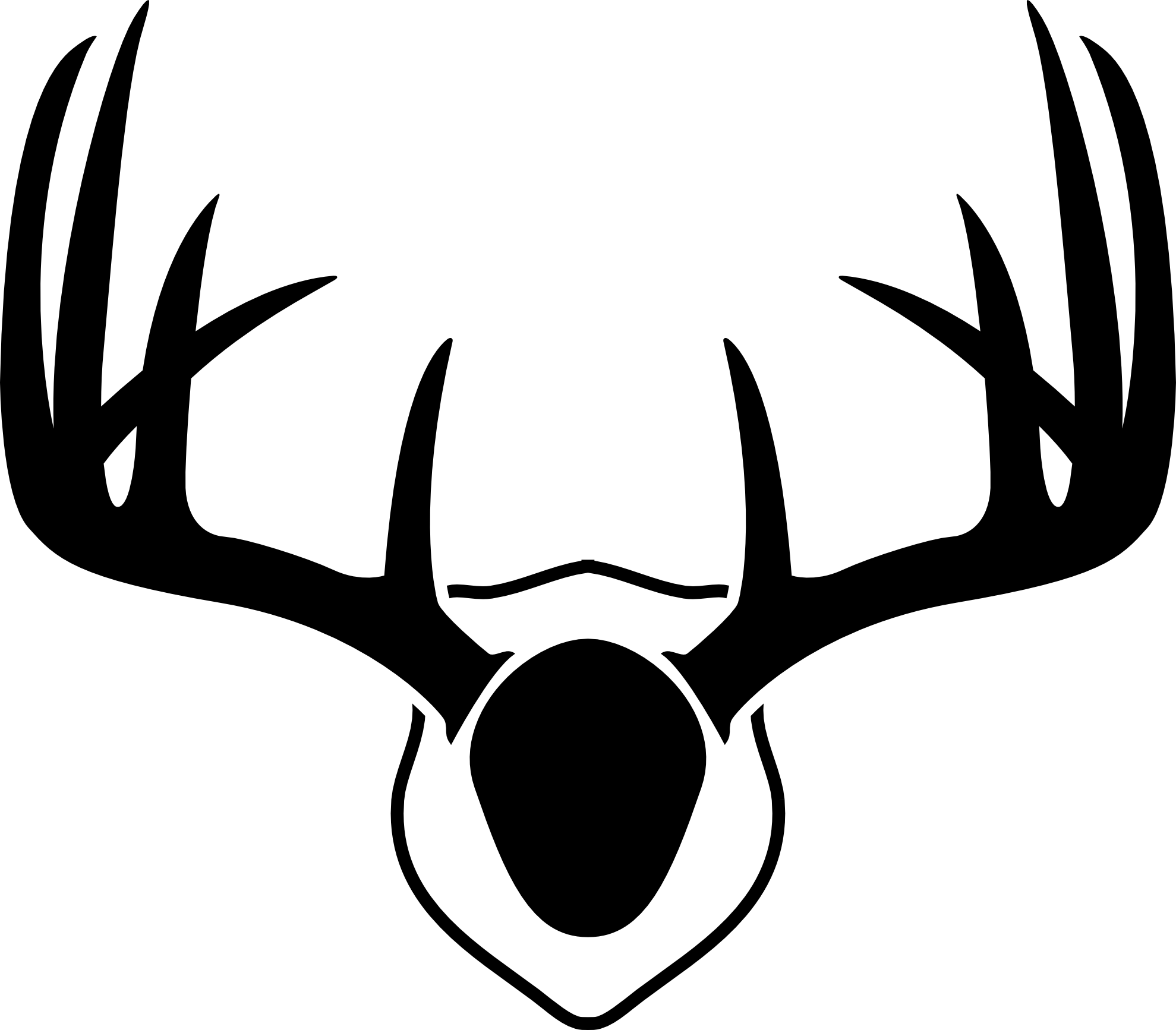 stag vector drawing