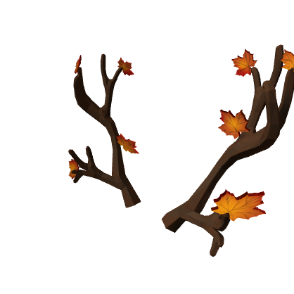 Antlers with flowers png. Image autumn roblox wikia
