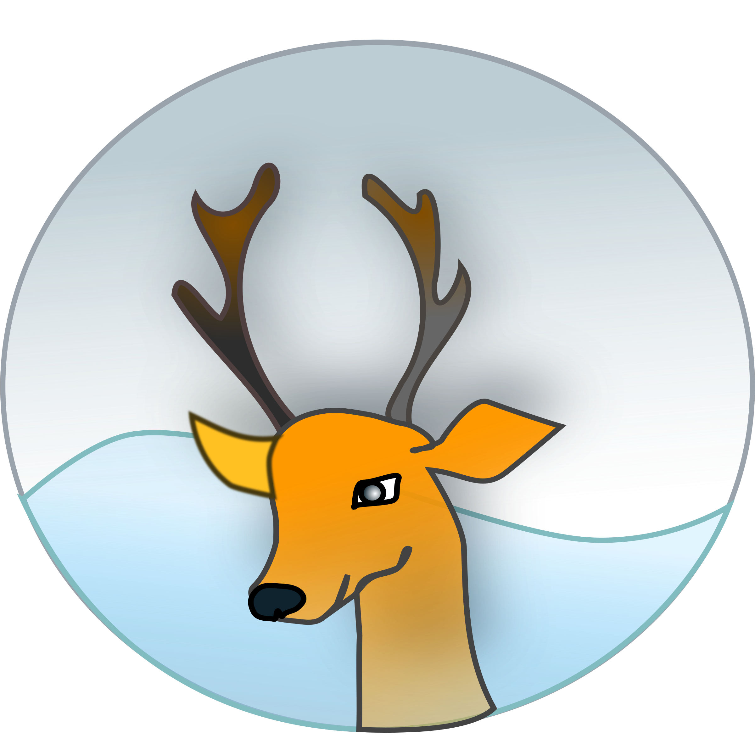 Antlers with flowers png. Deer antler clipart at