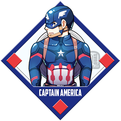 Drawing marvel captain america. By quas on deviantart