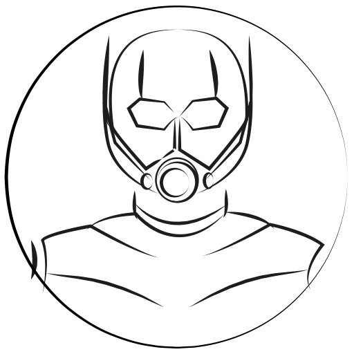 Drawing marvel outline. Avatar hero antman icon
