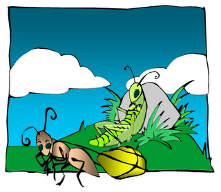 Ants clipart cartoon grasshopper. Ant the pencil and