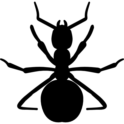 Ants vector side view. Red ant shape free