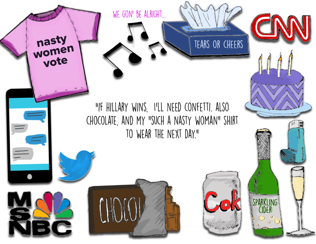 Anxiety clipart survival kit. Election day an illustrated