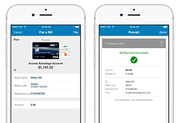 Anz internet banking png. Access great payment features