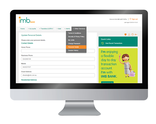 Anz png internet banking. Imb bank view and