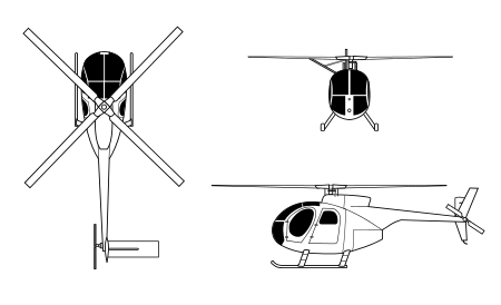Drawing helicopters little bird. Hughes oh cayuse wikipedia