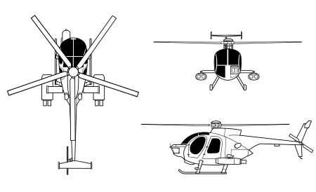 Apache drawing attack helicopter. Mcdonnell douglas md defender