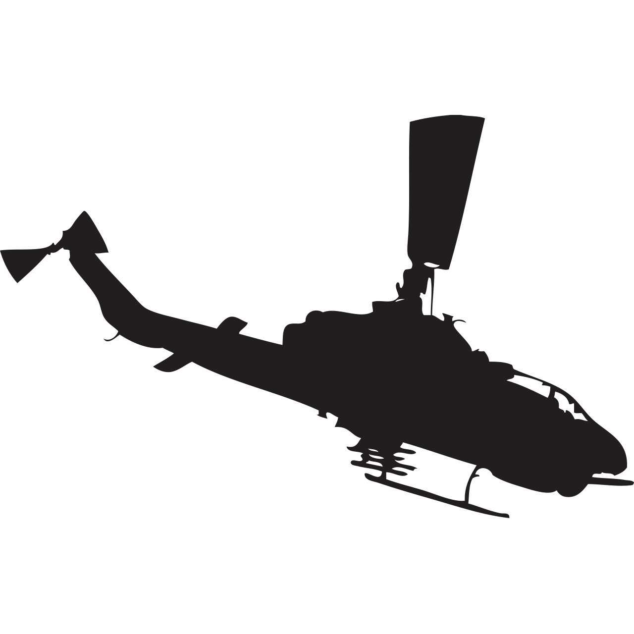 Apache drawing blackhawk helicopter. Black hawk silhouette at