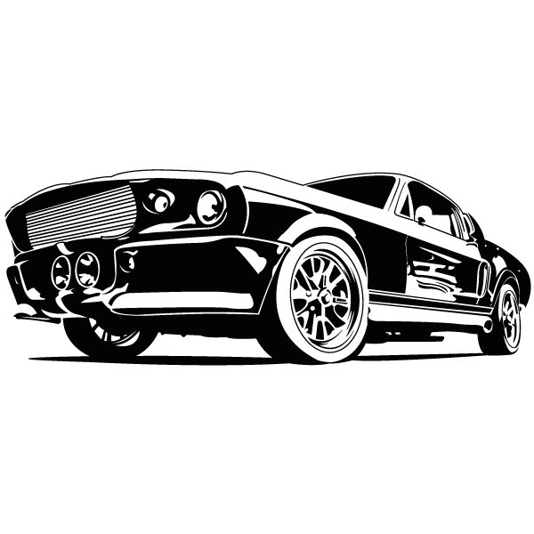 Lokoloko vinilos coches eleanor. Drawing mustang gt500 svg transparent library