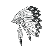 Apache drawing feather. By drine spreadshirt