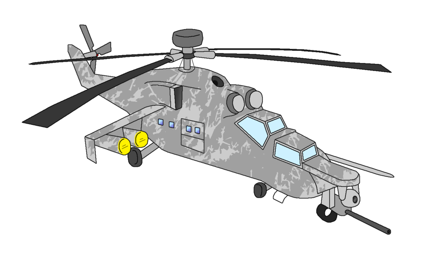 Apache drawing military helicopter. Rotor radio controlled radiocontrolled