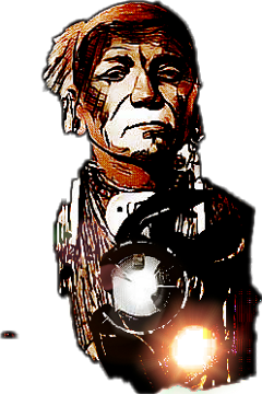 Apache drawing portrait. Popular and trending stickers