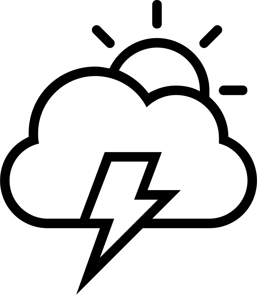 Apache drawing symbol. Storm day weather interface