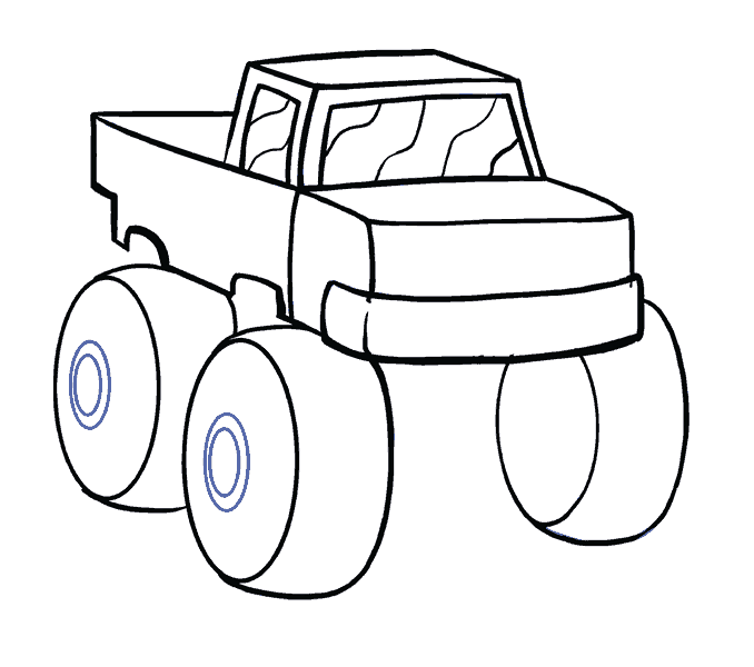 Truck line at getdrawings. Cart drawing step by vector royalty free download
