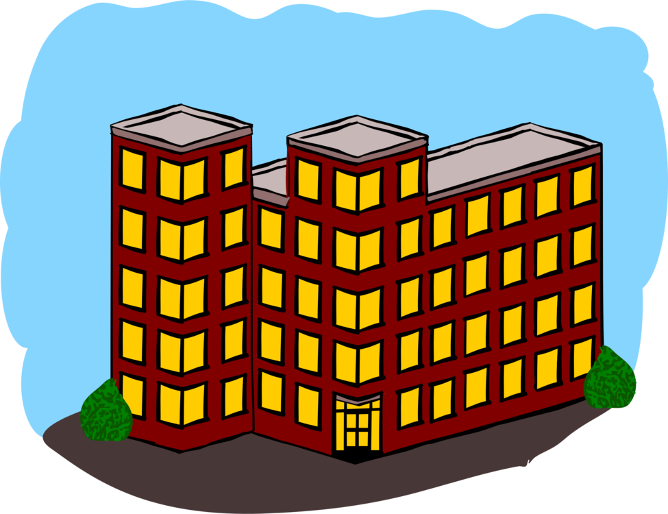 Apartment clipart. House building dwelling real