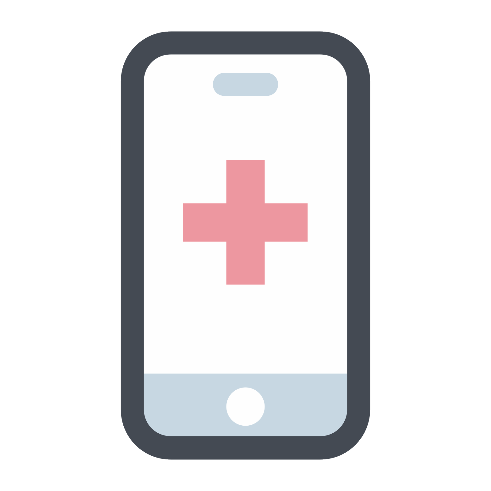 Cell phone vector png. Icona medical mobile app