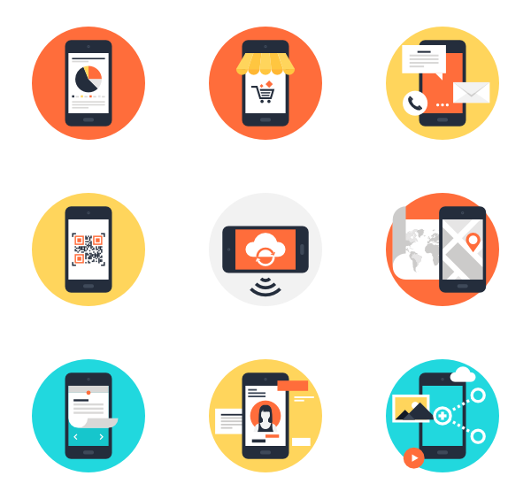 Cell phone vector png. Apps icon packs