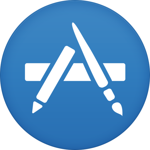 App store icon png. Appstore circle iconset martz