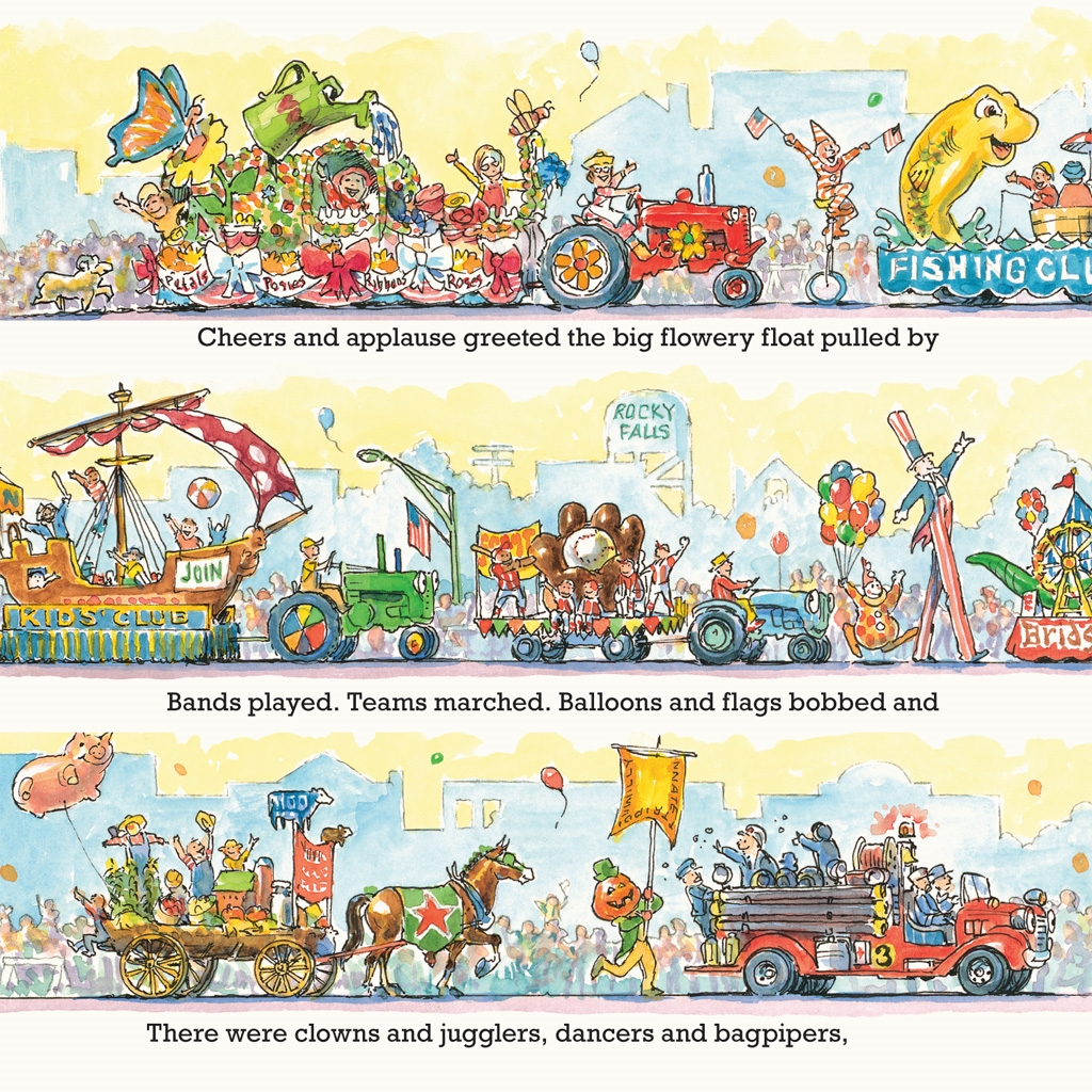 Applause clipart parade. Tractor mac s best