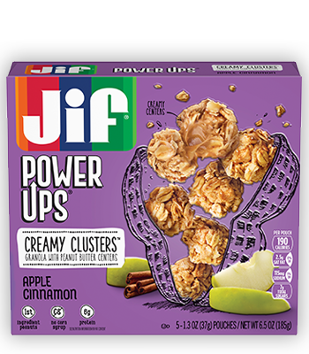 Apple and peanut butter png. Jif power ups cinnamon