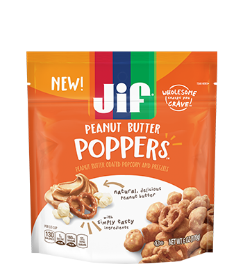 Apple and peanut butter png. Jif poppers coated popcorn