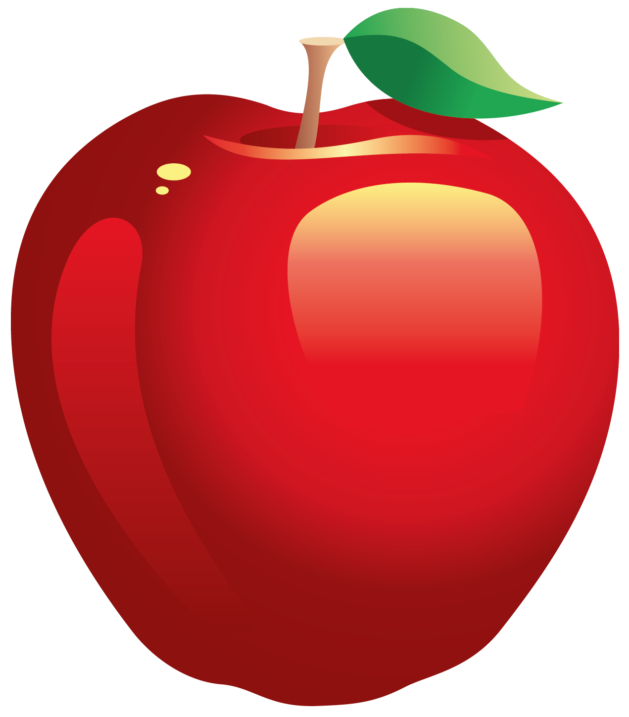 Apple clipart png. Large painted red gallery