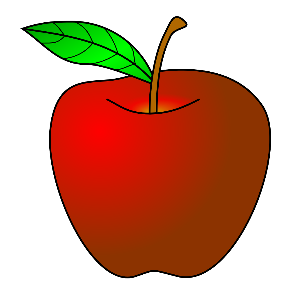 Apple clipart template. File red svg wikimedia
