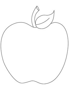 Apple clipart template. Pattern use the printable