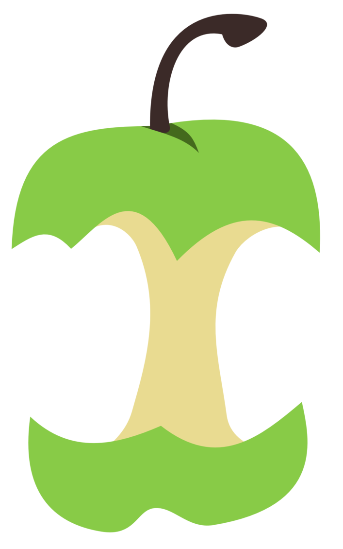 Apple core png. Cutie mark by the