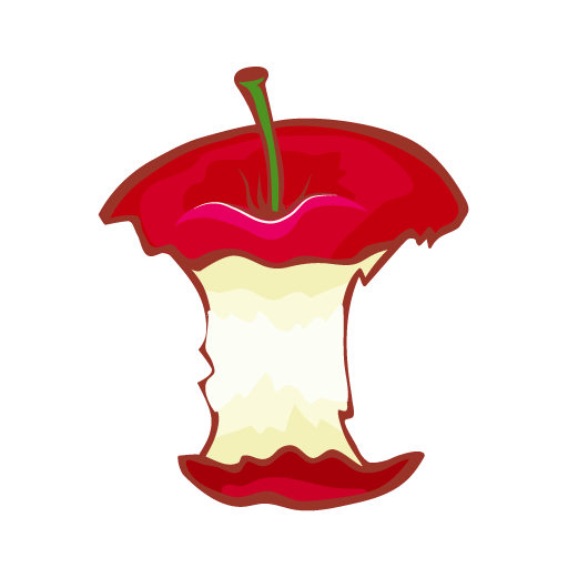 Apple core png. Bitten drawing at getdrawings