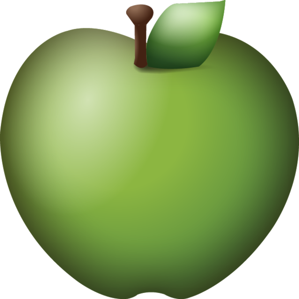 Apple emoji png. Download green icon island