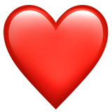 Iphone heart emoji png. Red on apple