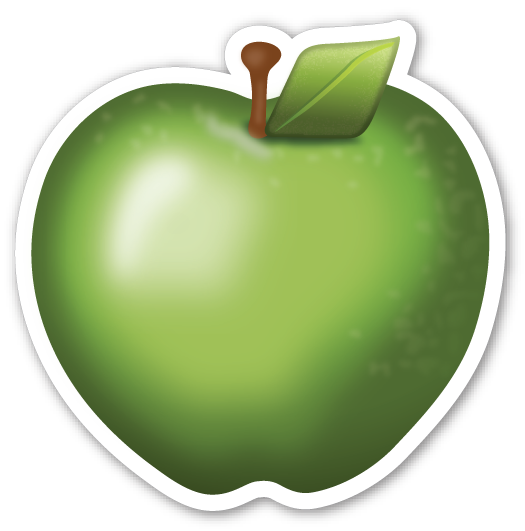 Apple emoji png. Green emojistickers com