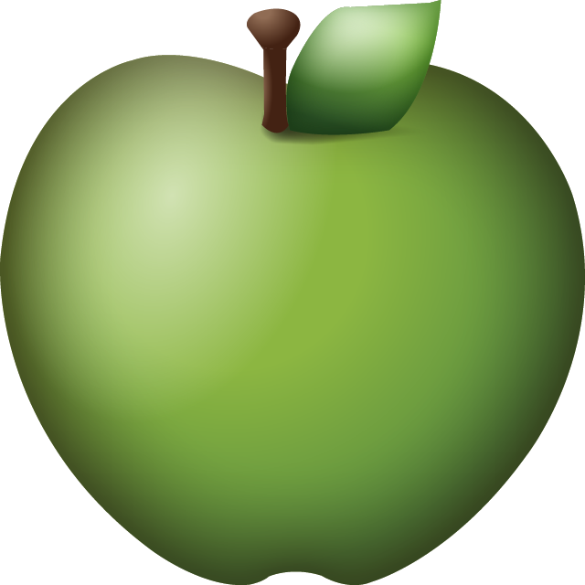 Apple emoji png download. Green icon island ai